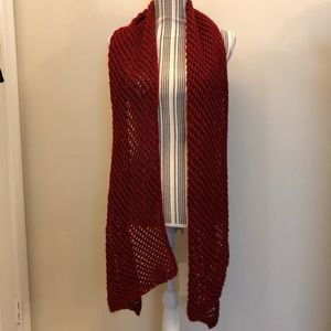 Red Knit Scarf